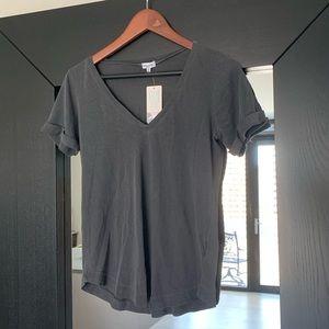 NWT Splendid V-neck T-Shirt Slub Gray